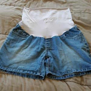 Motherhood denim shorts